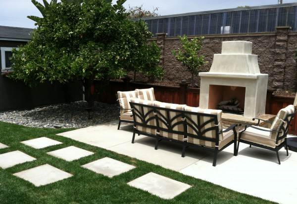 Outdoor Fireplace and Sitting Area Hauser Houses 4