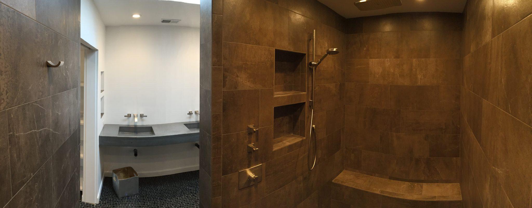 Modern Bathroom Remodel Dark Sink Hauser Houses