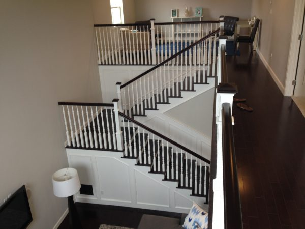 Stairway Railings White Remodel Hauser Houses 4